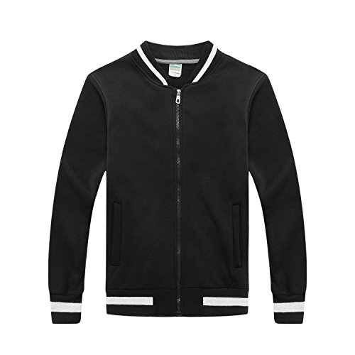 Autumn New Men Slim Baseball Uniform Jacket(Black) - 2