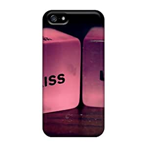 Hot Tpu Cover Case For Iphone/ 5/5s Case Cover Skin - Kiss On Lips