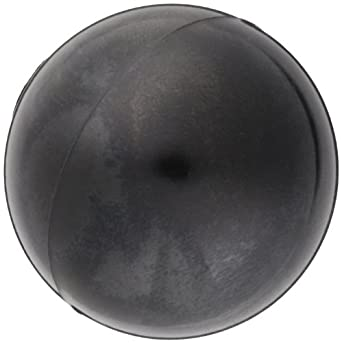 "DimcoGray Black Phenolic Ball Knob Female, Brass Insert: 5/16-18"" Thread x 7/16"" Depth, 1-3/8"" Diameter x 1-19/64"" Height x 5/8"" Hub Dia (Pack of 10)"