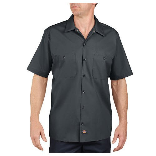 Dickies Occupational Workwear LS535CH XL Polyester/Cotton Men's Short Sleeve Industrial Work Shirt, Extra Large, Dark Charcoal by Dickies Occupational Workwear