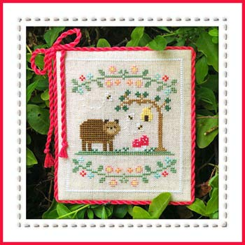 Welcome to The Forest 7 - Forest Bear Cross Stitch Chart and Free Embellishment