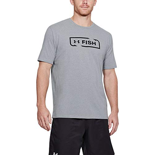 Under Armour Outerwear Men's Under Armour Men's Fish Icon T-Shirt, Steel Light Heather (035)/Black, ()
