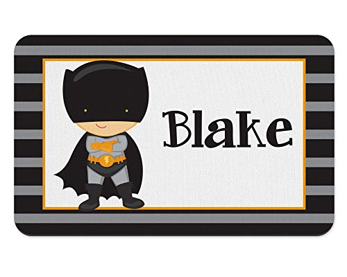 Caped Superhero POLYESTER Rubber Backed Placemat