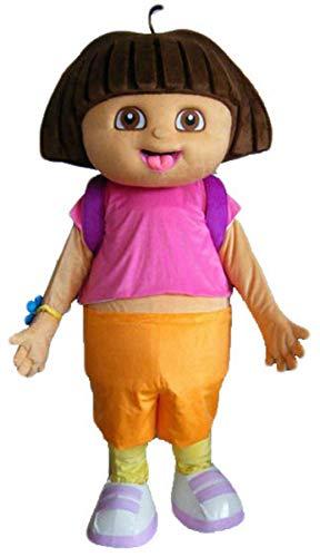 Aris Cute Dora Mascot Costume Cartoon Character Costumes for Sale arismascots ()
