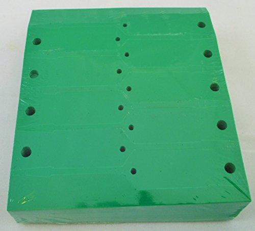 GREEN Self-Locking Arrow Key Tags (1,000 per pack) Size 4 1/2