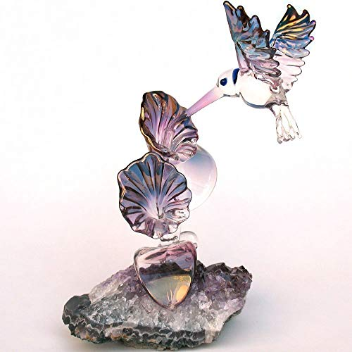 (Hummingbird Figurine Hand Blown Glass)