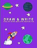 Draw and Write: Kids Art Story Book For Creative Fun, Purple (Creative Writing for Kids)
