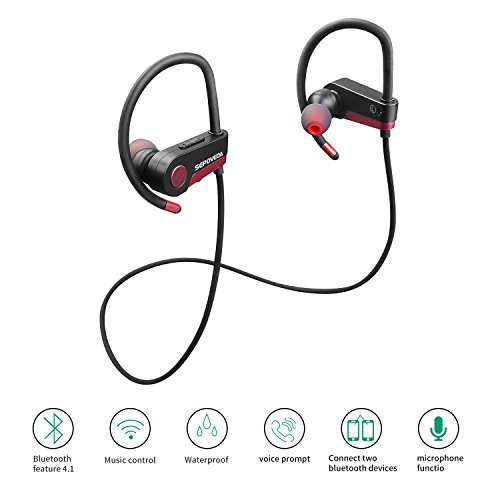 sepoveda bluetooth headphones wireless earbuds with mic. Black Bedroom Furniture Sets. Home Design Ideas