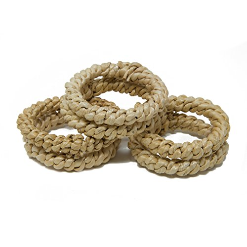 Handmade Eco Friendly Twisted Banana Bark Napkin Rings Diameter-2 Inch,Napkin Holders For Weddings,Dinners,Parties Or Everyday Use, Set Of 6,Light Weight 5 Grams, (Banana Stem Decoration)