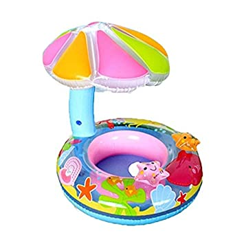 Candybush Flotador bebé de la Historieta de Agua de PVC Asiento del Barco con el pabellón