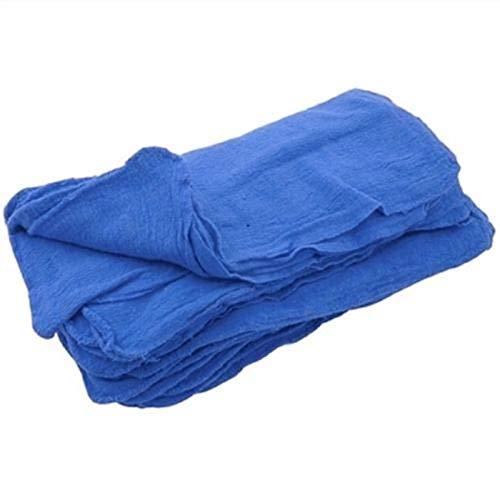 Great 100pc Textile Mechanics Shop Rags Towels Blue Jumbo 13x14 Towels by E_GGW (Image #1)