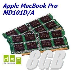 8GB Speicher / RAM für Apple MacBook Pro MD101D/A (Set aus 2 Modulen)