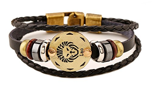 Vivir La Vida Multi Layer 12 Zodiac Signs Constellation Astrology Leather Bracelet For Women And Men