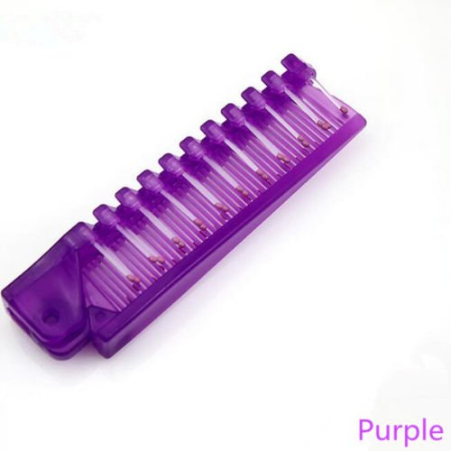 Price comparison product image MIJORA-2 Pcs Portable Travel Massage Comb Anti-Static Styling Kits Folding Hair Combspurple