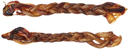 Gourmet Duck Sticks - cadet Braided Piggy Real Meat Dog Chews, 12-Inch, 2-Pack