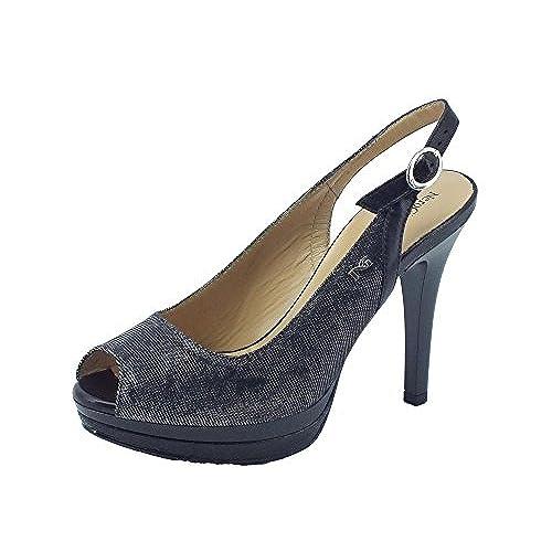 5c0dd9f08713a Barato Nero Giardini P717412de T. Notturno Nappa Nero - Zapatos de vestir  de Material Sintético