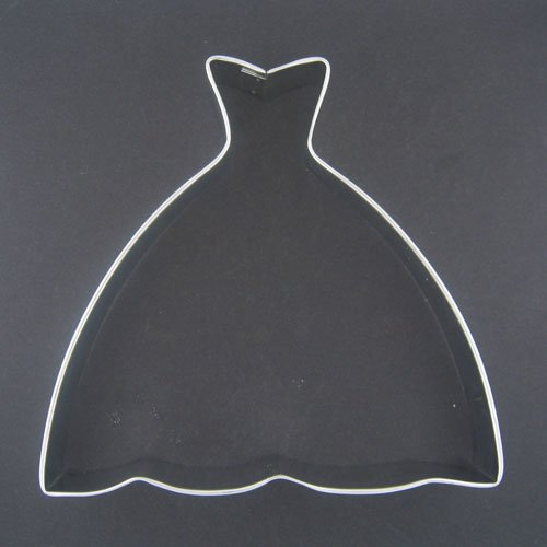 r Wedding Dress Cookie Cutter - 5 Inch (Bridal Cookie Cutters)