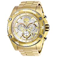 Men's 'Marvel' Quartz Stainless Steel Watch, Color:Gold-Toned (Model: 26864)