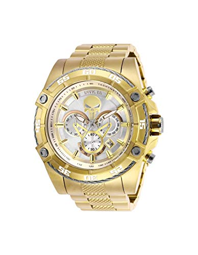 Invicta Men's Marvel Quartz Watch with Stainless-Steel Strap, Gold, 26 (Model: 26864)