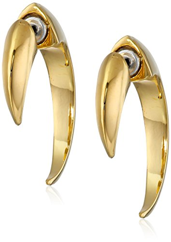 vince-camuto-gold-tone-small-horn-hoop-earrings