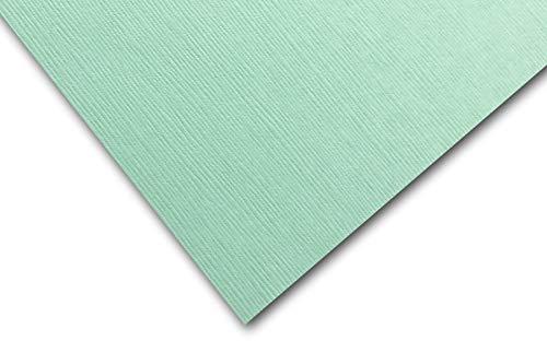 Premium DCS Canvas Textured Seafoam Green Card Stock 20 Sheets - Matches Martha Stewart Seafoam Green - Great for Scrapbooking, Crafts, DIY Projects, Etc. (8.5 x 11)
