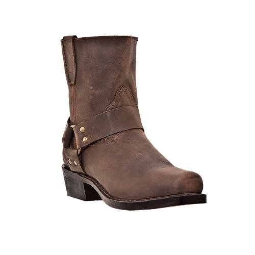 Dingo Mens Gaucho Nutty Mule Leather Rev-Up 7in Harness Cowboy Boots 16 - Mule Boots Cowboy