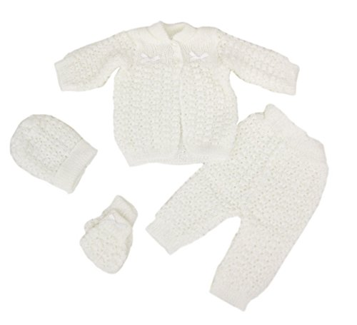 Abelito Baby's Four Piece Crochet Outfit Set One Size (Crochet Baby Clothes)