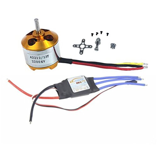 BGNing 2212 2200kv Brushless Outrunner Motor W Mount 6t 30a ESC Controller For Drone Rc Quadcopter Multi Copter UFO