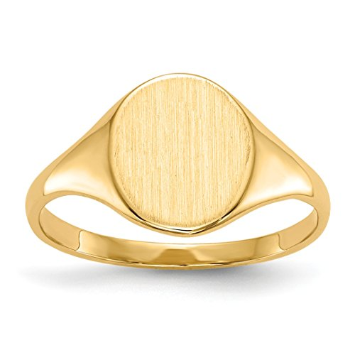 IceCarats 14k Yellow Gold Signet Band Ring Size 5.50 14k Yellow Gold Signet Ring