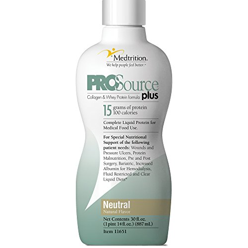Prosource Plus Neutral Bottle: Concentrated Liquid Protein. 15 Grams of Protein per 1 fl. oz.