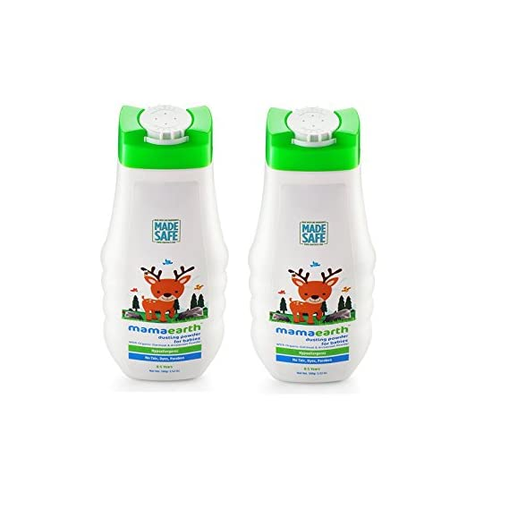 Mamaearth Talc Free Organic Dusting Powder for Babies, Arrowroot and Oat Starch,100g x 2pcs