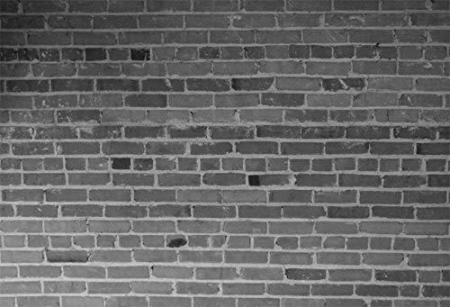 FidgetFidget ブラックストーン レンガ 壁 写真背景 7x5フィート スタジオ背景 写真撮影小道具   B07MHC8ZJP