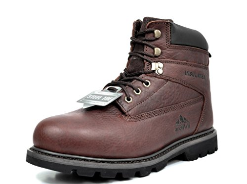 arctiv8 Men's Titan-S-02 Brown Full-Grain Leather Steel Toe Work Boots - 9.5 M US