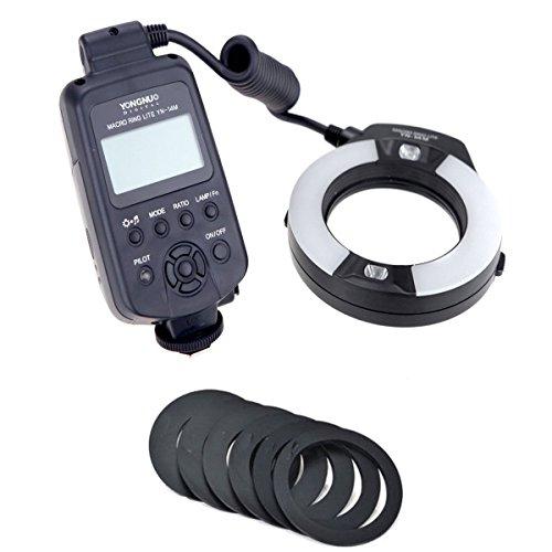 Yongnuo Yn-14m LED Ring Macro Flash Light with 7 Adapter Rings for Nikon D3x D3s D3 D2x D800e D800 D700 D600 D300s D40x D70s Camera SLR Dslr Illumination Lamp Camcorder
