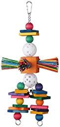 Super Bird Creations 15 by 6-1/2-Inch Willy Nilly Bird Toy, Large