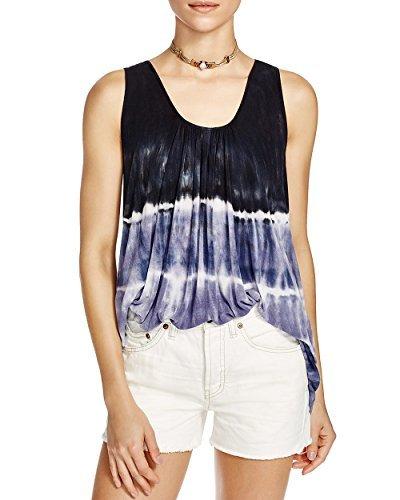 Free People Womens Knit Tie-Dye Tank Top Black S