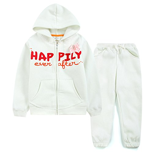 Neighbor Girl Children Baby Happily Letter Pattern Decorative sweatshirts Hooded 2pcs (Holloween Gangster Costume Children)