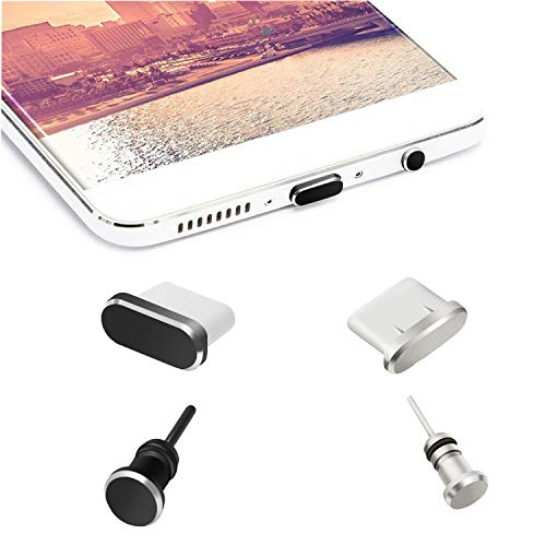 OOTSR Anti-dust Plugs Caps Compatible for Type C Charging Port and Earphone Jack, Anti-Dust Pluggy for Type C Devices As Samsung Galaxy Note 8/9/S9/S9+/S10/S10+/HTC 10/U11/U11+/ OnePlus 5/5T/6/6T