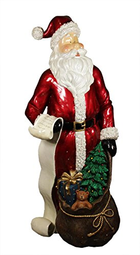 "48"" Commercial Size Santa Claus with List and Gift Sack C..."