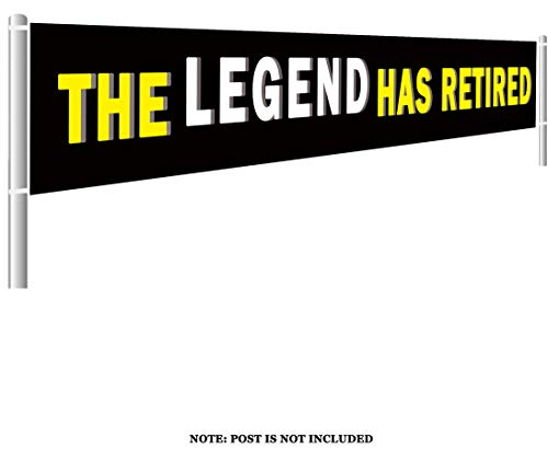 Large Retirement Party Decorations - The Legend Has Retired Banner, Retirement Party Supplies Gifts, Retired Party Background Photo Props (9.8 x 1.5 -