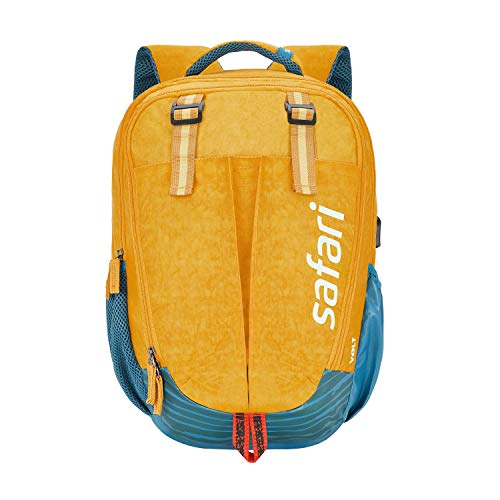 Safari Overalls 37 litres Yellow Laptop/Casual/School/College Backpack with USB Charging (OVERALLS19CBYEL)