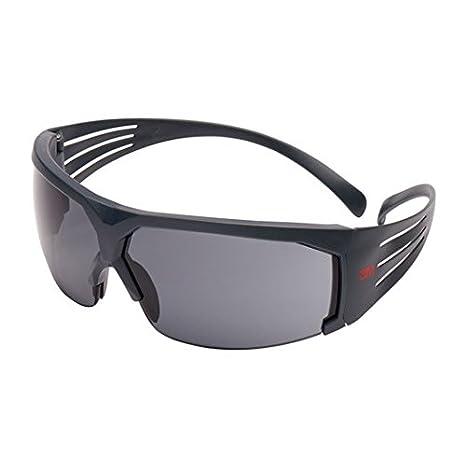 3M SF603SGAF SecureFit Schutzbrille, Scotchgard Anti-Fog, Grauer Rahmen, Gelb 7100112712