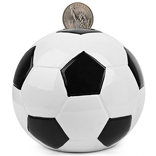 (FORLONG FL2002 Soccer Piggy Bank Ceramic Coin Bank Money Bank-(5 Designs for Choice Golf/ Basketball/Soccer/Football/Hockey) 6