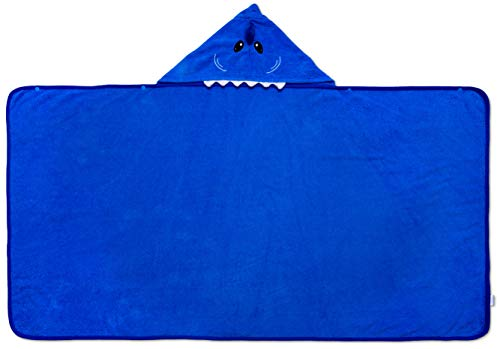 Hudz Kidz Softest Quick Dry Hooded Kids Shark Towel for Toddler - 5T - 100% Cotton Gently Snuggles Kids Dry. Get The Moms Love by Hudz Kidz (Image #1)
