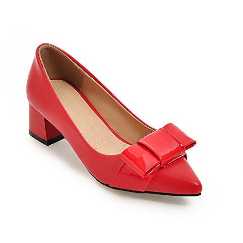 Moyen Red Talon a Sandales d'épaisseur Une Femmes Grande Chaussures Simples Taille qWAtxvwA