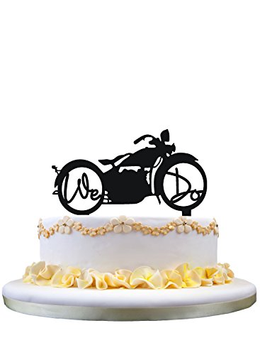Motorcycle Wedding Cake Topper with We ()