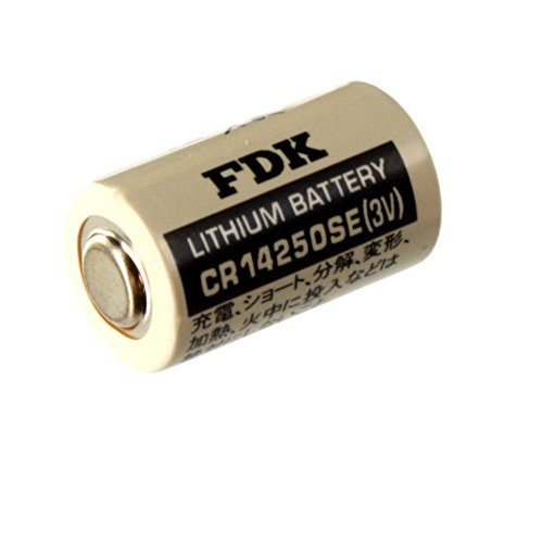 Exell PLC-7 CR14250SE 3V 1/2 AA Laser Lithium Battery Button Top Made in Japan Used in Numerical Control Systems Personal Computers and Other Electronics Applications Replaces Sanyo CR12600SE CR2NP