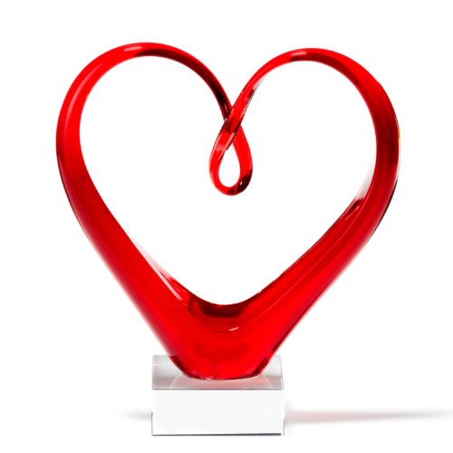 Leonardo 090871 Skulptur Heart, rot