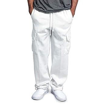 WOVELOT Nuevo Pantalones de Chándal Cintura Elástica con Cordón de ...
