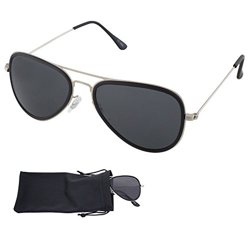 e4b50a47d8 Aviator Sunglasses With Metal Frames - UV Ray Protected Shades For Men    Women - By Optix 55